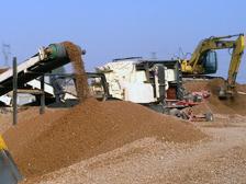 DPF建筑垃圾移动破碎站破碎废弃混凝土现场