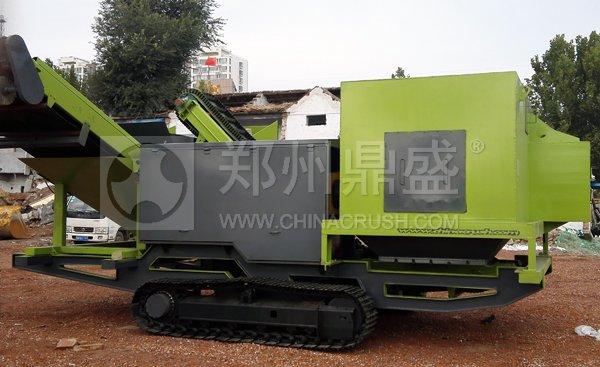 履带式轻物质联合分选车在山东建筑垃圾资源化利用项目使用