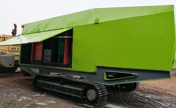 TBY履带式环保抑尘车在湖南使用现场