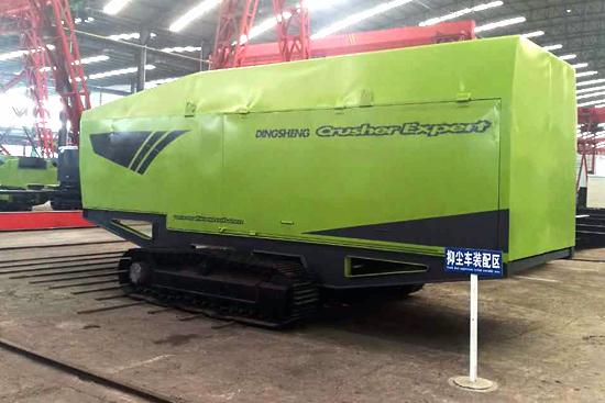 TBY履带式环保抑尘车在深圳使用现场